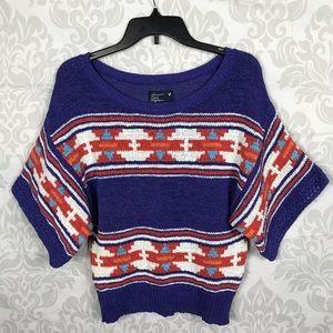 ❤️ 3/$20 American Eagle Purple Knit Aztec Sweater